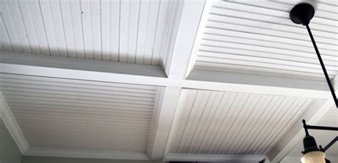 beadboard plywood ceiling tray ceiling to hide bead board seems possible kitchen