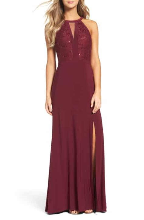 Aline Maxy Maroon gowns nordstrom