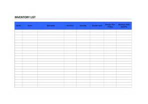 Word Inventory Template by Inventory List Freewordtemplates Net