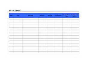 inventory list freewordtemplates net