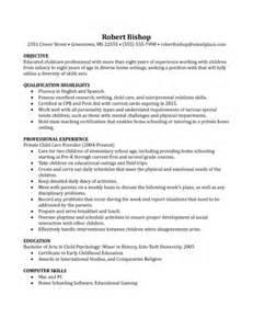 sle basic nanny resume