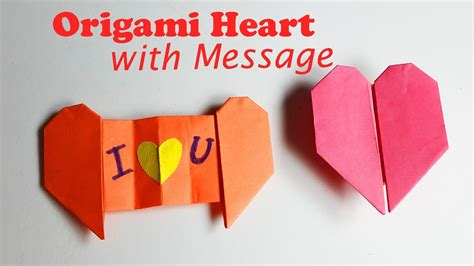 Message Origami - how to make an origami with message origami easy