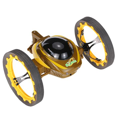 Rc Car Jumping Stunter 777 359 2 4ghz yellow happycow 777 359 2 4ghz radio jumping stunter rc bounce car with wheels