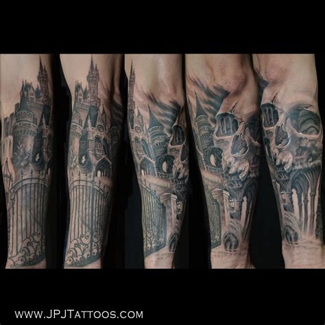 castle tattoos 35 awesome castle tattoos