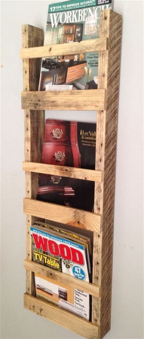 upcycled magazine rack handmade wall hanging magazine rack reclaimed pallet wood