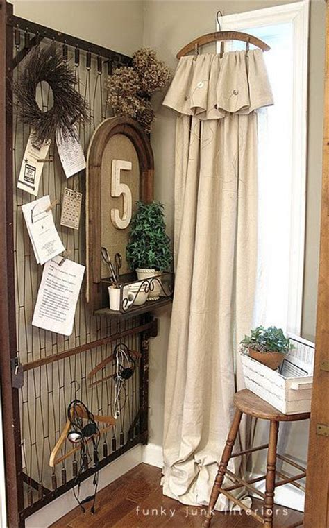 curtains made from painters drop cloths old bedspring for display unit 50 things to make from
