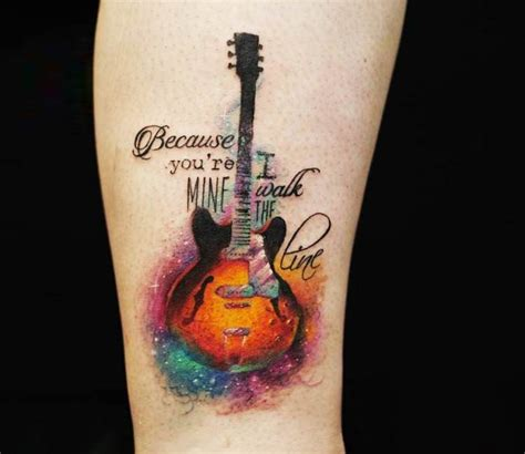 watercolor tattoo guitar guitar by versus ink guitar guitars and