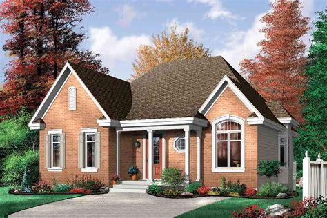 economical  bedroom brick house plan dr st