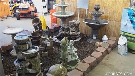 water fountains garden center  home depot youtube
