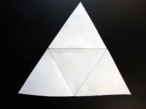 How To Fold A Paper Into A Triangle - paper pyramids 171 mr honner