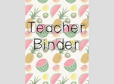 Teacher Binder Cover {TROPICAL THEMED} by 3rd Grade ... Language Arts Clip Art Images