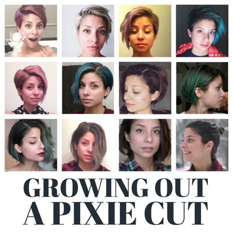 styles for growing out a pixie month by month timeline of all the stages of growing out a