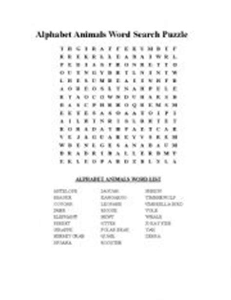 printable wordsearch for 11 year olds english teaching worksheets animals wordsearch