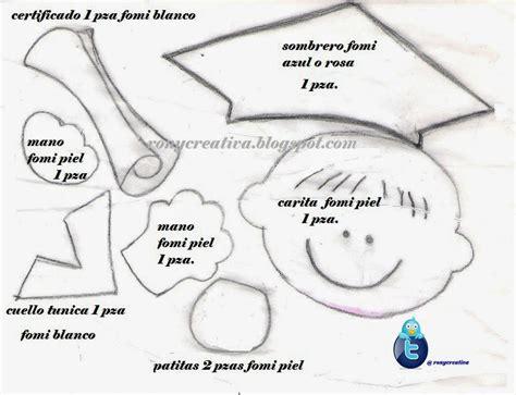 moldes tarjetas de graduacion figuras en foami de graduados imagui
