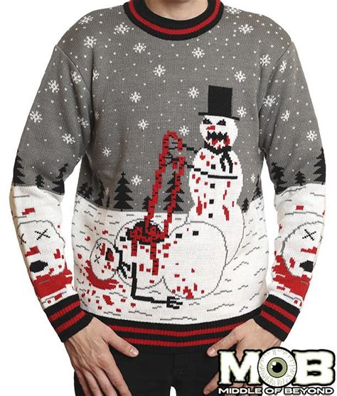zombie christmas sweater snowman sweater middle of beyond