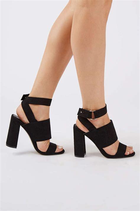 Heels Import Black Ready Atock Size 35 37 38 block heel sandals topshop