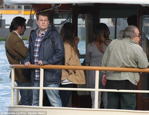 he was a star enjoying his stardom new book reveals the james corden shoots scenes for new movie in venice and