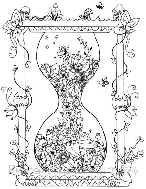 coloring pages for adults garden garden hourglass coloring page printable coloring pages
