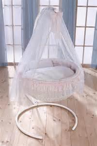 Moses Basket Drapes Leipold Rondo Crib Pink Baby Prams Bedding Cots
