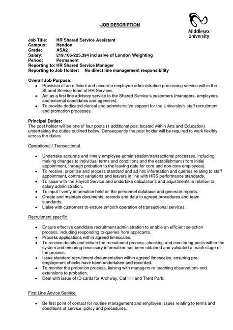 best photos of human resources assistant job description
