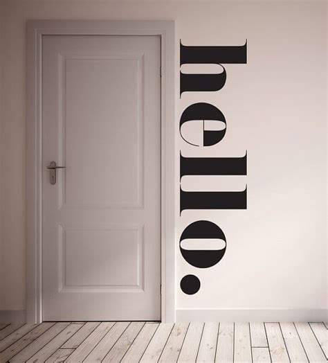 hello stickers for walls hello wall decal in kitchen etsy store and awesome