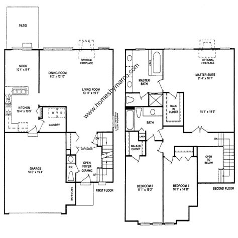 homes by marco floor plans dijon model in the cherbourg subdivision in buffalo grove
