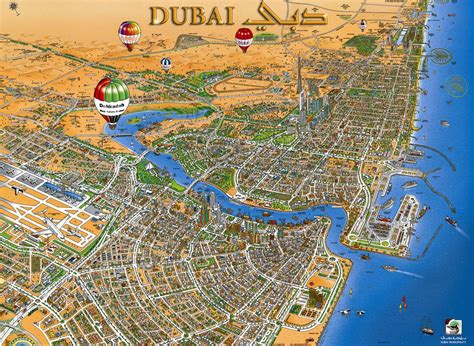 dubai on map uae dubai metro city streets hotels airport travel map