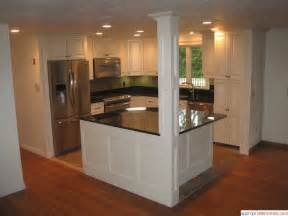 kitchen islands with columns kitchen island pillar on hickory kitchen