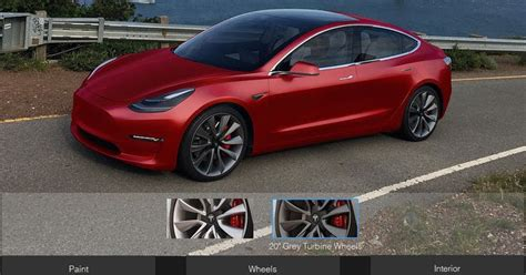 Tesla Configurator Unofficial Configurator Lets You Build Your Own Tesla Model 3