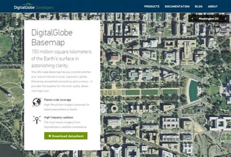 digitalglobe maps digitalglobe launches new maps api and developer site