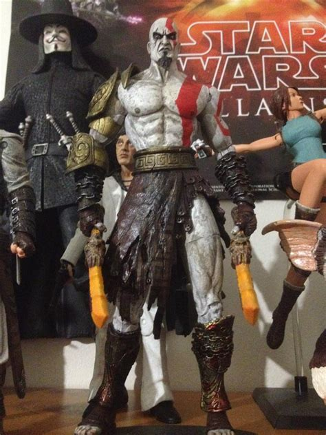Neca Kratos God Of War With Medusa And Golden Armor Fleece neca kratos collected in figure collection by tayler rowe collected it