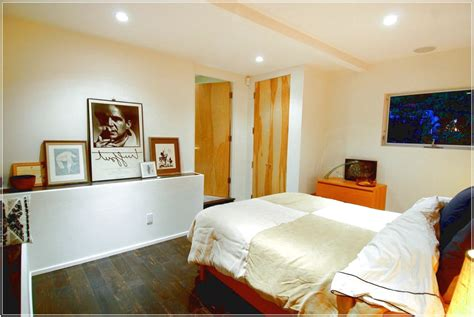 floor  window cool small finished basement bedroom