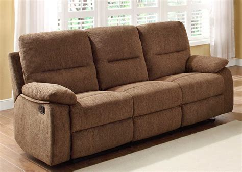 Sofa Recliners With Cup Holders Homelegance Marianna Reclining Sofa With Center Drop Cup Holders Brown