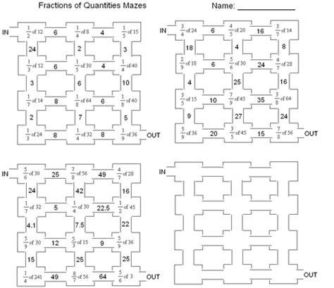 printable maze ks2 fractions of amounts maze by frickard teaching resources