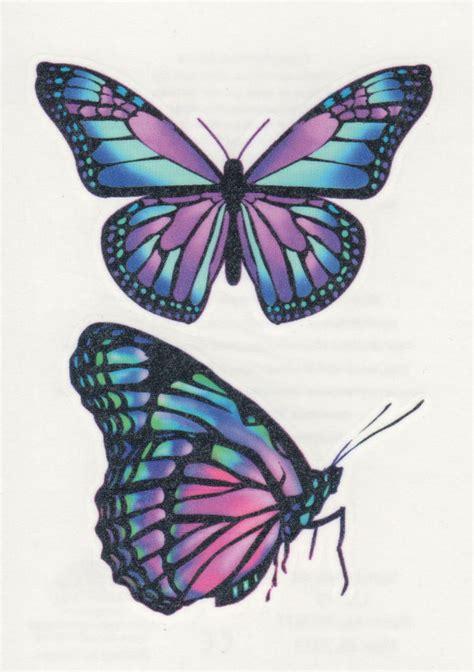 beautiful purple pink butterfly butterflies temporary