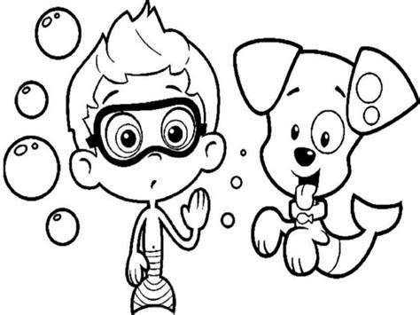 Bubble Guppies Coloring Pages Coloringsuite Com Gil Guppies Coloring