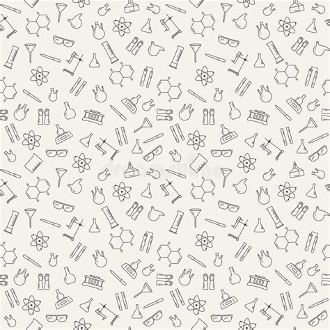 pattern lab less vector seamless pattern with chemical laboratory equipment