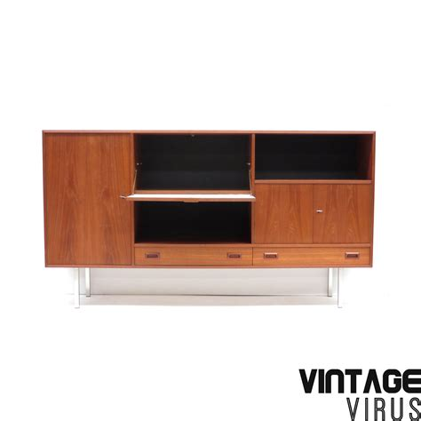 vintage credenza vintage credenza sideboard made of teak with metal legs