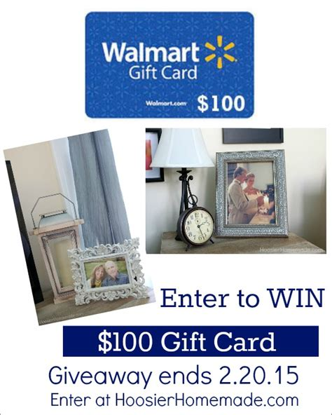 Send A Walmart Gift Card - 100 walmart gift card giveaway hoosier homemade