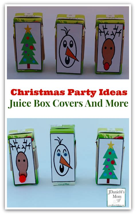 Printable Christmas Juice Box Cover | christmas party ideas juice box covers and more