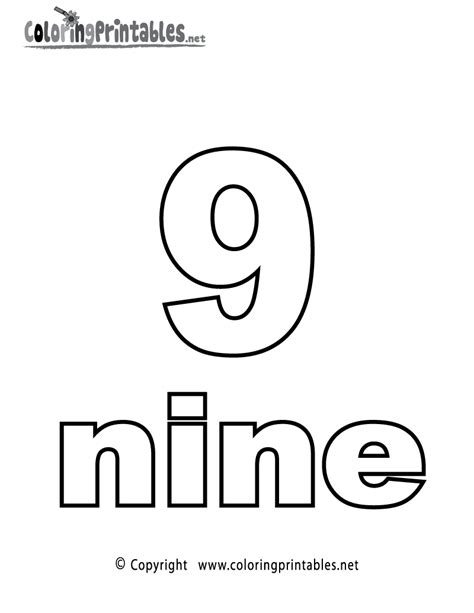 coloring pages for the number 9 number nine coloring page printable numbers activities