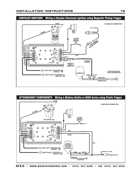 msd  al  ignition control installation user manual page