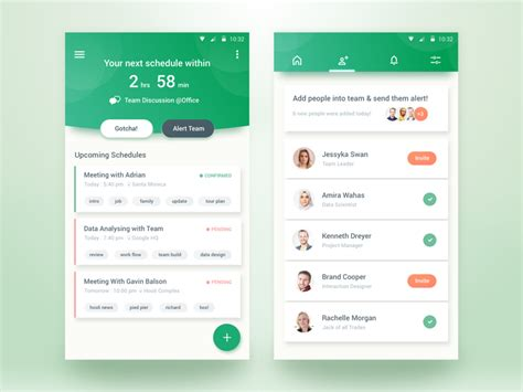 home design app add friends team schedule app uplabs