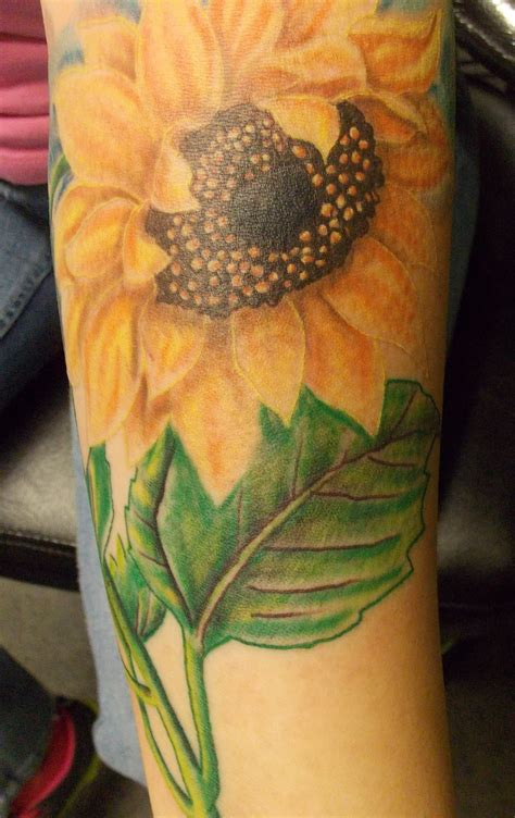 sunflower arm tattoo sunflower tattoos designs ideas and meaning tattoos for you