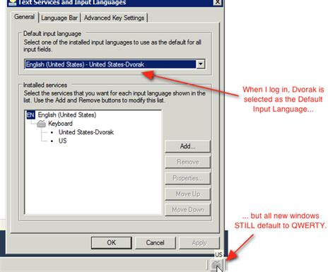 keyboard layout substitutes registry windows says dvorak is the default keyboard layout but