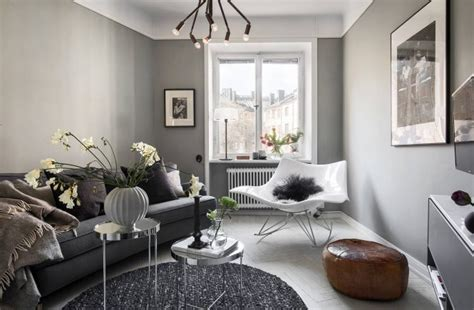 grey scandinavian a cozy grey scandinavian studio apartment