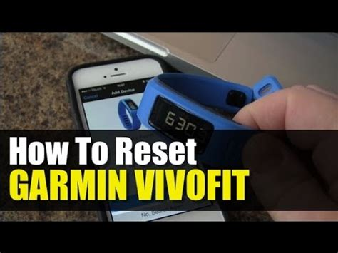reset vivofit watch garmin vivofit how to reset youtube