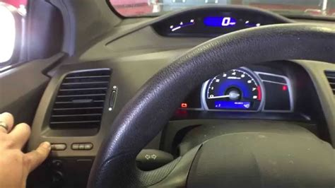 video reset oil life percentage on honda civic at oil change