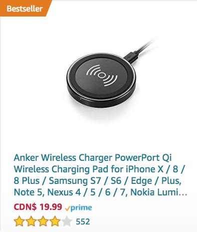 amazon qi charger top wireless chargers for iphone x iphone 8 on amazon ca