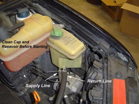 audi area audi a8 flushing the power steering hydraulic system